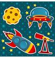 Icon set space vector