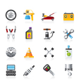 Transportation and car repair icons vector