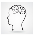 Creative head brain idea concept vector