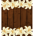 Background with white flowers vector