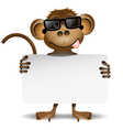 Monkey with sunglasses vector