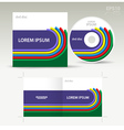 Cd disc cover dimensional colored line vector