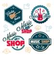 Music logo set vector