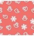 Seamless winter background with snowflakes birds vector