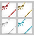 Card with ribbon collection vector
