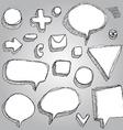 Set of banners arrows symbols sketch contour pen vector