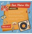 Retro music poster vector