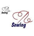 Needlework or sewing symbol vector