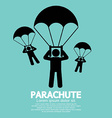 Parachutes skydiving sign vector