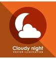 Cloudy night design vector