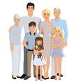 Family generation portrait vector