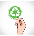 Recycle icon in hand vector