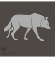 Grey wolf silhouette vector