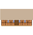 Old wooden barn vector