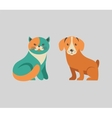 Collection of cat and dog icons and vector