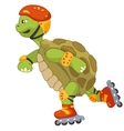 Funny turtle roller vector