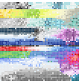 Abstract pixel art color background vector