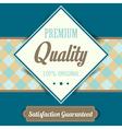 Premium quality poster retro vintage design vector