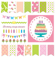 Birthday party design elements vector