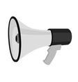 Grey megaphone vector