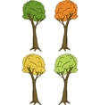 Spring summer and autumn trees vector