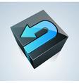 Cube with arrow vector