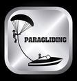 Paragliding design vector