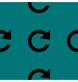 Arrow update web icon flat design seamless pattern vector