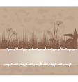 Vintage background with grass vector