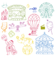 Set vintage circus elements vector