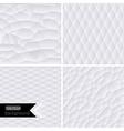 White geometric background white mo vector