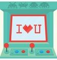 I love you arcade machine isolated vector