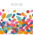 Medical background design with pills and capsules vector