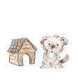 Dog hand drawn vector