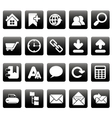White web site icons on black squares vector