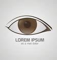 Eye brown logo vector