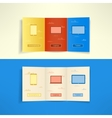 Modern three fold brochure leaflet cloud computing vector
