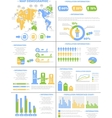 Infographic demographics population 3 vector
