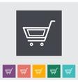 Cart flat single icon vector
