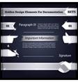 Silver design elements for documentation set5 vector