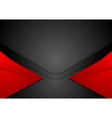 Red and black corporate art background vector