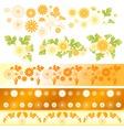 Chrysanthemum flower elements vector