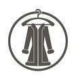 Cloth icon of woman coat vector