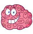 Happy brain cartoon vector
