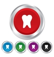 Tooth sign icon dental care symbol vector