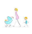 Mother with kids vector