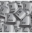 Keyboard keys vector