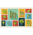 Ecology sketch style flat icon set vector