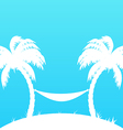 Tropical paradise background with palm trees and vector