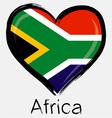 Love africa flag vector